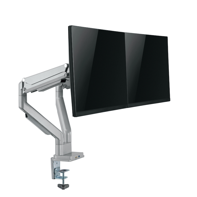 Dual Monitor Arms with Screen