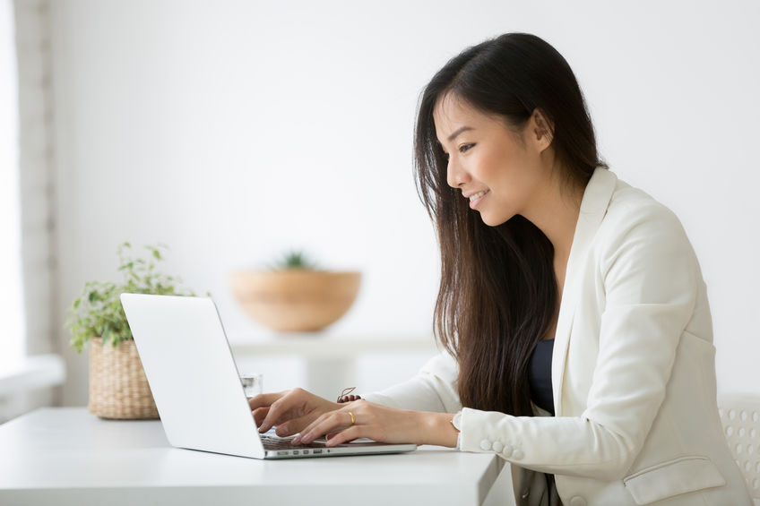 Work from home with laptop in Singapore