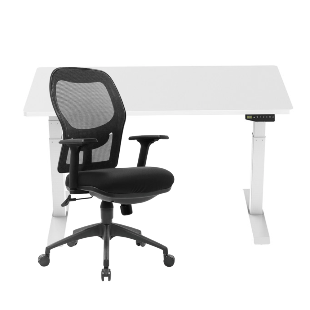 Peak Sit Stand Home Office Desk Set