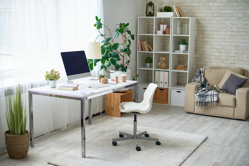Modern home office when work from home