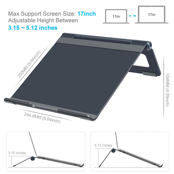 Ergonomic Portable Laptop Riser
