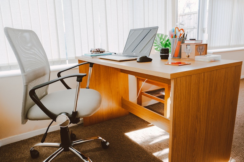 set up a home office space with an ergonomic office chair